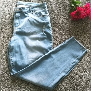 Old Navy Rockstar Skinny Jeans with distressed hem